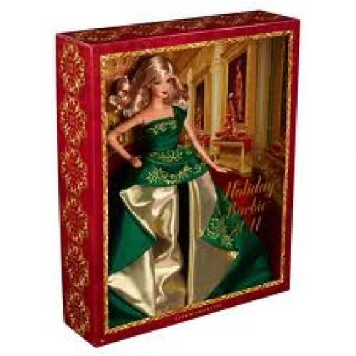 Dolls; Holiday Barbie 2011 Collectible Doll
