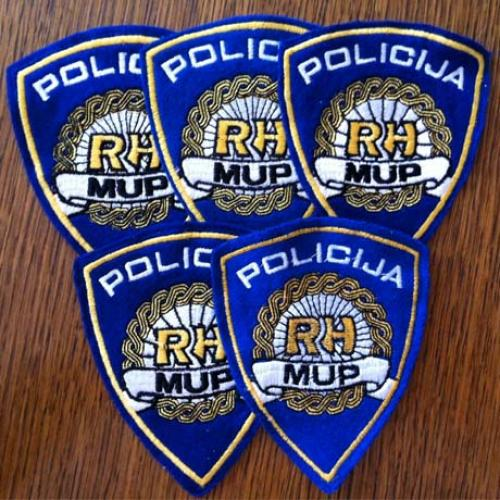 Croatia police patch-(5 pieces)
