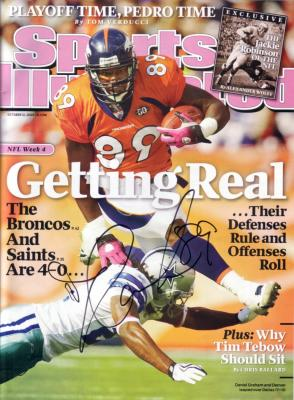 Daniel Graham autographed Denver Broncos 2009 Sports Illustrated