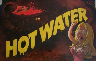 American Dad Hot Water 2011 Comic-Con promo poster