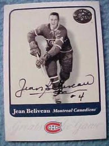 2001 FLEER GREATS OF THE GAME JEAN BELIVEAU-MONREAL CANADA
