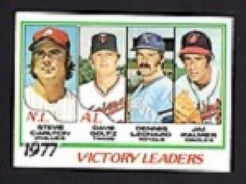 1978 Victory Leaders Baseball Card