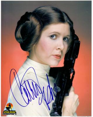 Carrie Fisher autographed 8x10 Star Wars Princess Leia portrait photo