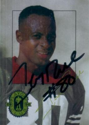 Jerry Rice autographed San Francisco 49ers 1994 Playoff card
