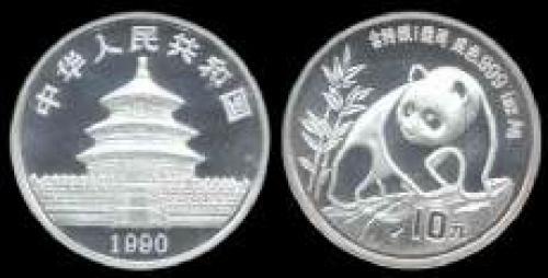 10 yuan; Year; 1990; (km y#237); Panda