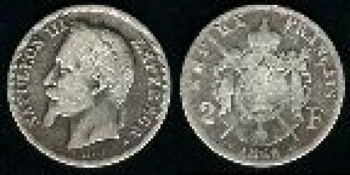 2 francs; Year: 1866-1870; (km 807)