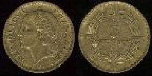 5 francs; Year: 1938-1946; (km 888a); aluminum bronze