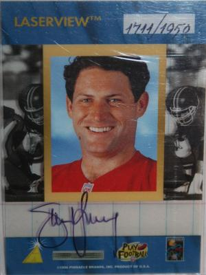 Steve Young certified autograph San Francisco 49ers 1996 Pinnacle Inscriptions card #1711/1950