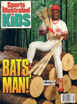 Eric Davis Cincinnati Reds 1990 Sports Illustrated for Kids magazine