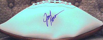 Jack Ham autographed white panel football