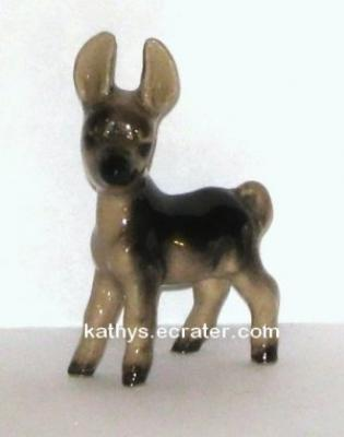 Hagen Renaker Glossy Baby Donkey #021 Animal Figurine