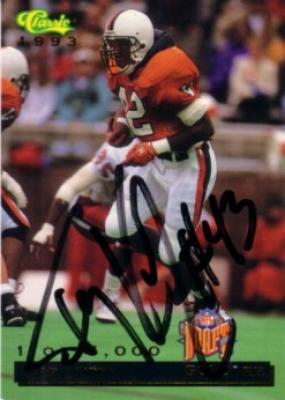 Terry Kirby autographed Virginia 1993 Classic card