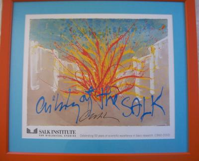 Dale Chihuly autographed lithograph matted &amp; framed (2010 limited edition)