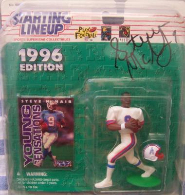 Steve McNair autographed Houston Oilers 1996 Kenner Starting Lineup