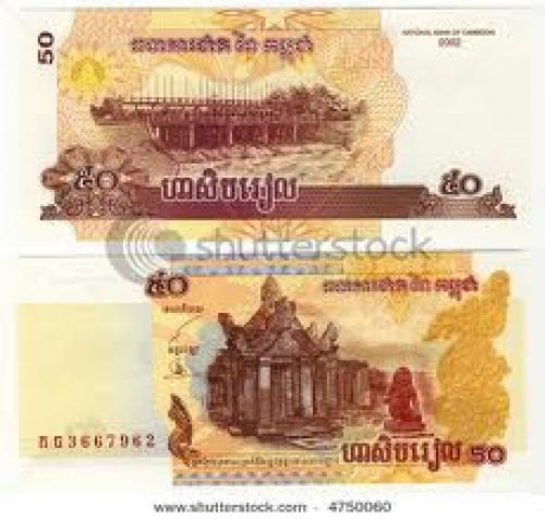 Banknotes; old banknote of Cambodia, 50 riel , 2002 year