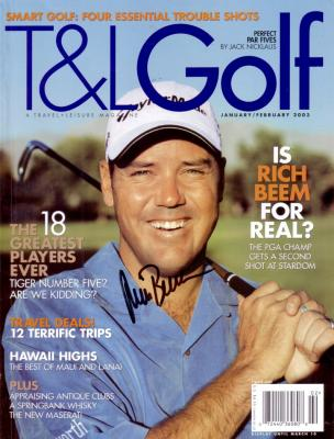 Rich Beem autographed T&L Golf magazine cover
