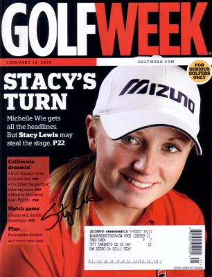 Stacy Lewis (LPGA) autographed 2009 Golf Week magazine