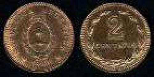 2 Centavos; Year: 1939-1947; (km 38); bronze; ESCUDO