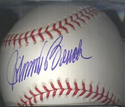 Johnny Bench autographed NL baseball