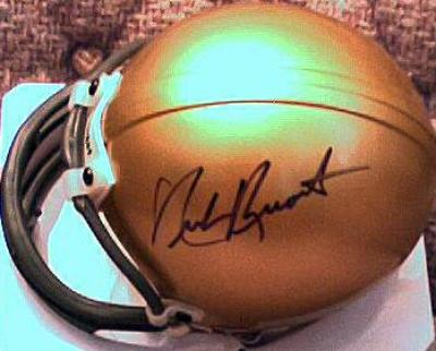 Nick Buoniconti autographed Notre Dame Fighting Irish mini helmet