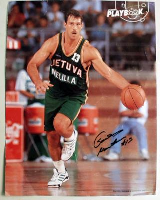 Sarunas Marciulionis autographed 11x14 photo (Steiner Sports)