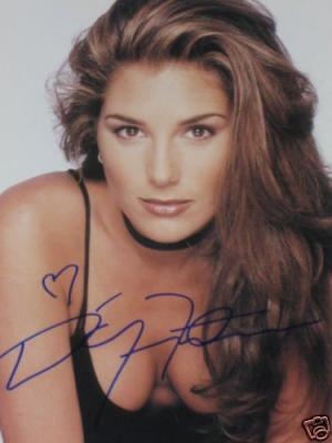 Daisy Fuentes autographed 8x10 cleavage photo