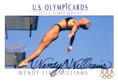Wendy Lian Williams (diving) autographed 1992 U.S. Olympic Hopefuls promo card