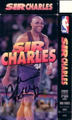 Charles Barkley autographed Phoenix Suns Sir Charles video box