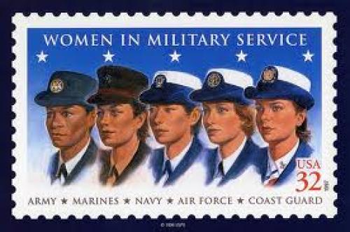Stamp; USA women  military service stamp; 32 cents