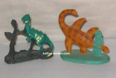 Lot 2 Metal Jurassic Park Dinosaur Figurines