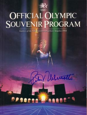 Peter Ueberroth autographed 1984 Los Angeles Olympics program