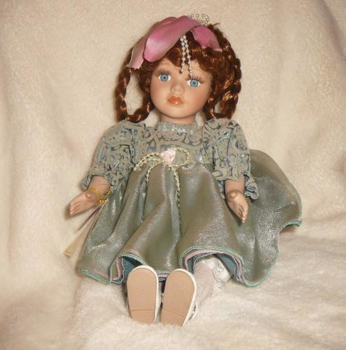 "MUSICAL DOLL ""CAROLYN"" FINE BISQUE PORCELAIN COLLECTIBLE COA W/O Box"