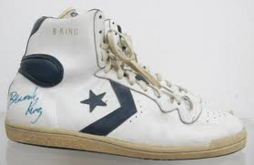 Sports Memorabilia : Bernard King Autographed NBA Game Shoes