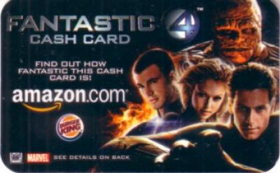 Fantastic 4 2005 Amazon & Burger King promo cash card