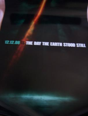 Day the Earth Stood Still mini movie poster MINT