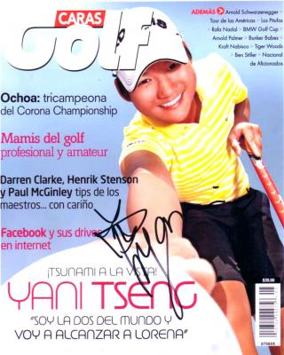 Yani Tseng autographed Caras Golf magazine cover 8x10 photo