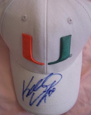 Kellen Winslow Jr. autographed Miami cap