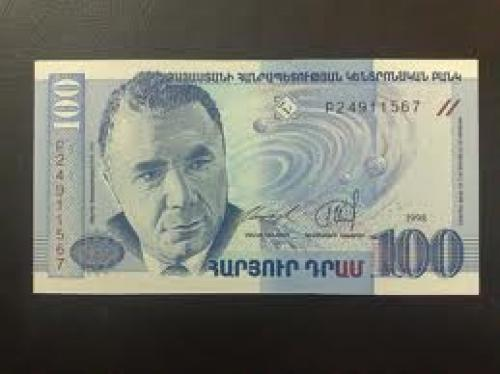 Banknotes; Armenia; 100 dram Year: 1998