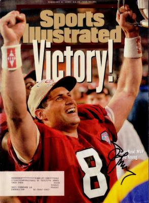 Steve Young autographed San Francisco 49ers Super Bowl 29 Sports Illustrated