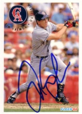 Tim Salmon autographed Angels 1994 Fleer card