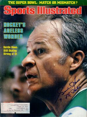 Gordie Howe autographed 1980 Sports Illustrated inscribed Mr. Hockey