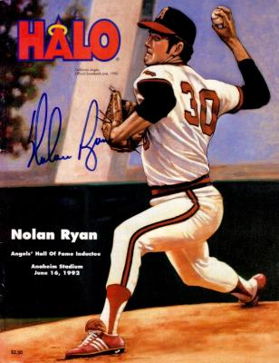 Nolan Ryan autographed Angels Hall of Fame 1993 program