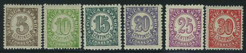 Definitives 6v; Year Issue: 1938; Spain stamps