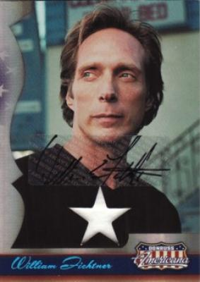 William Fichtner certified autograph Donruss Americana card with worn shirt swatch