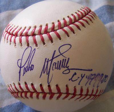 Pedro Martinez autographed MLB baseball inscribed CY 97 99 00