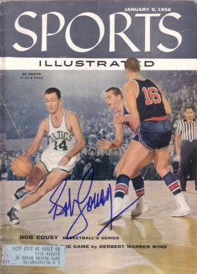 Bob Cousy autographed Boston Celtics 1956 Sports Illustrated