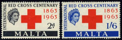 Red Cross Centenary 2v; Year: 1963