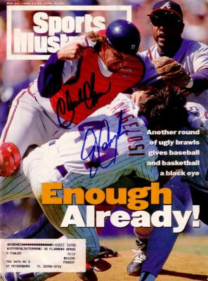 Charlie O'Brien & John Cangelosi autographed 1994 Sports Illustrated