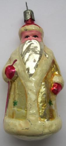 Glass Santa Claus from the 1950-60s