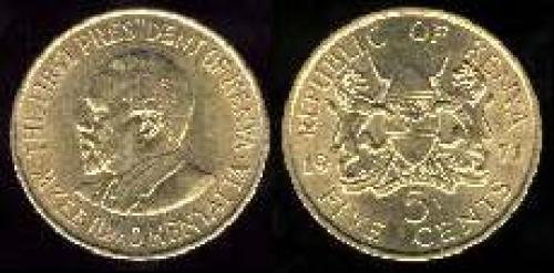 5 cents 1969-1978 (km 10)